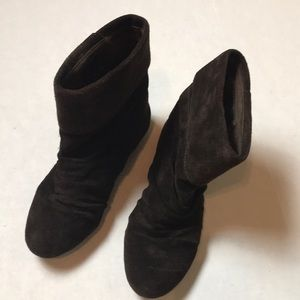 Gianni Bini Brown Suede Leather Ankle Booties